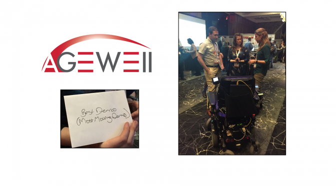 "CanWheeler, Emma Smith, wins ""Most Moving Demo"" at the 2016 AGEWELL Annual Conference"